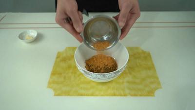 烤面筋撒料的配制