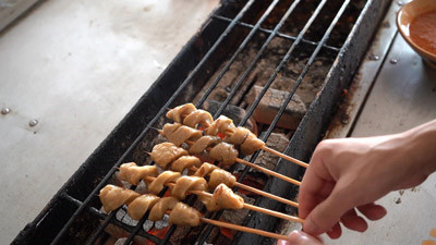 面筋串的烤制方法