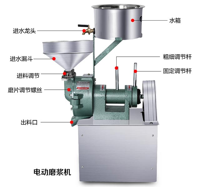 新手如何选择电动磨浆机和石磨肠粉机